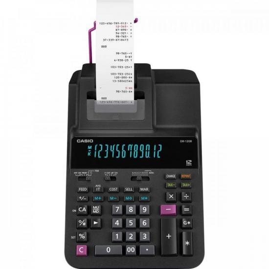f03edf1fd97 Calculadora com Bobina DR-120R-BK Preta CASIO (68424) - Hayamax ...