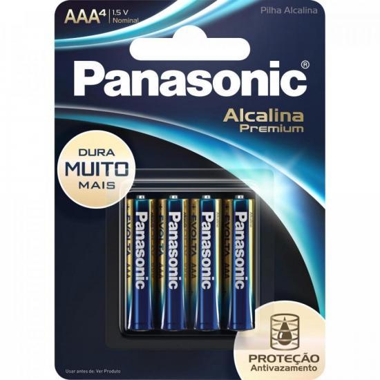 Pilha AAA Alcalina Premium C/4 PANASONIC