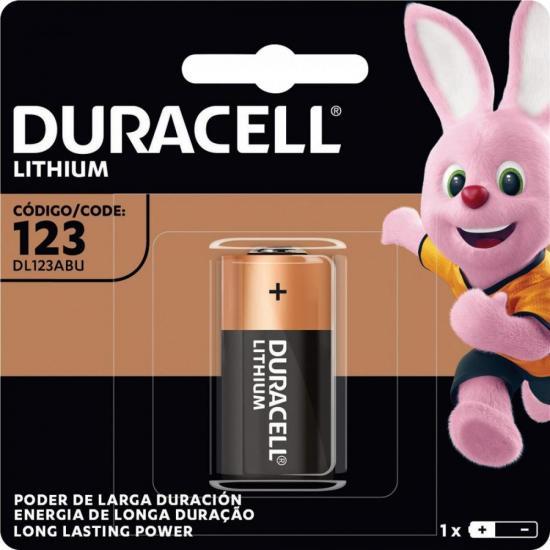 Bateria de Litio 3V CR123 DURACELL