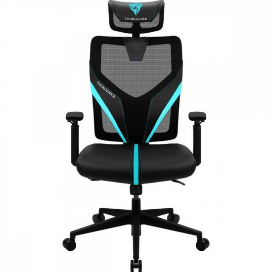Cadeira Ergonimic Yama1 Preta/Cyan THUNDERX3