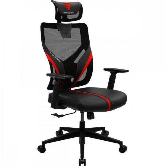Cadeira Ergonomic Yama1 Preta/Vermelha THUNDERX3
