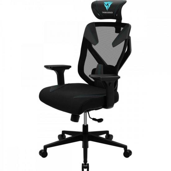 Cadeira Ergonomica Yama3 Preta/Cyan THUNDERX3