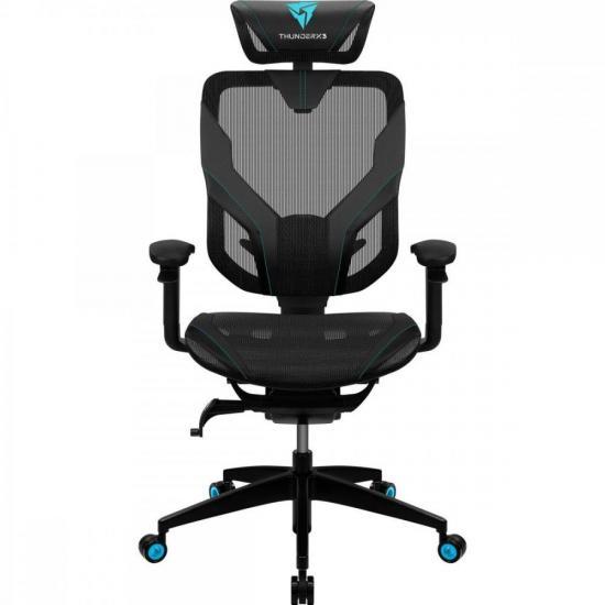 Cadeira Ergonomica Yama7 Preta/Cyan THUNDERX3