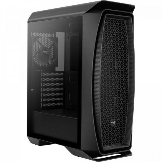 Gabinete Gamer Mid Tower Aero One Preto AEROCOOL
