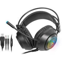 Headset Gamer RGB Crusader Preto FORTREK