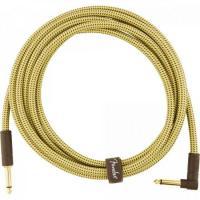 Cabo para Instrumentos P10 x P10 (90°) 3m DELUXE SERIES Amarelo Tweed