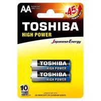 Pilha Alcalina AA 1,5V LR6GCP TOSHIBA (Cartela com 2 Unid.)