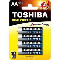 Pilha Alcalina AA 1,5V LR6GCP TOSHIBA (Cartela com 4 Unid.)