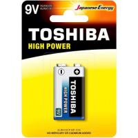 Bateria Alcalina 9V 6LR61GCP TOSHIBA (Cartela com 1 Unid.)