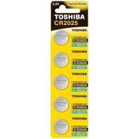 Pilha Moeda Lithium 3V CR2025 TOSHIBA (Cartela com 5 Unid.)