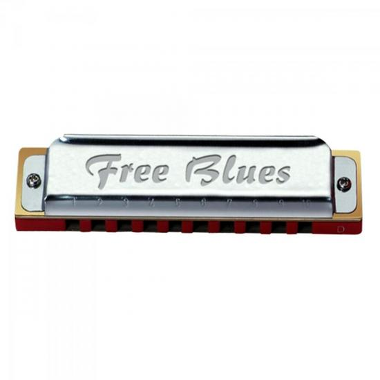 Gaita Diatônica em D 20 Vozes FREE BLUES HERING